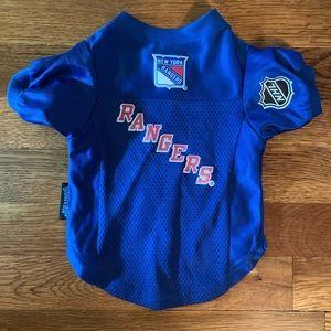 NY Rangers dog jersey